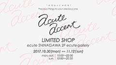 【AcuteAccent LIMITED SHOP in ecute SHINAGAWA】展示販売会